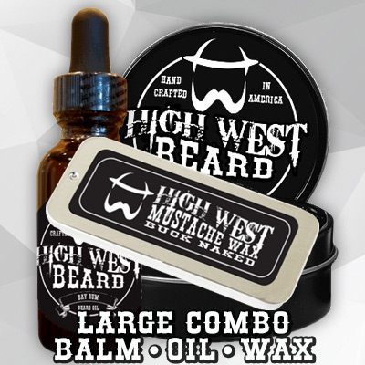 Buck Naked Large Combo - Balm Oil Wax Monthly Subscription
